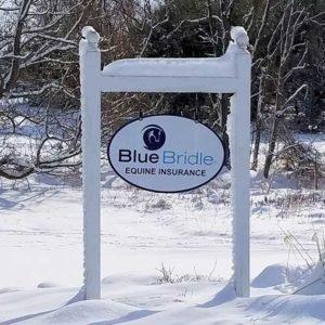 Blue Bridle Sign